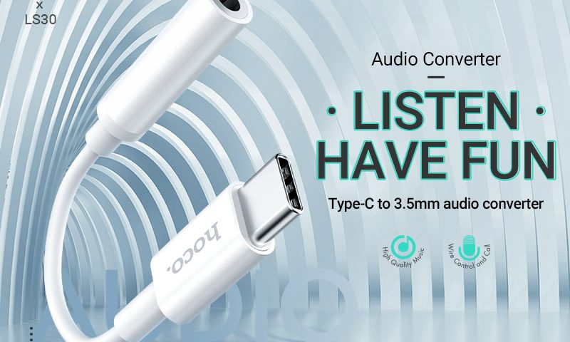 hoco news ls30 type c digital 35 audio converter banner en