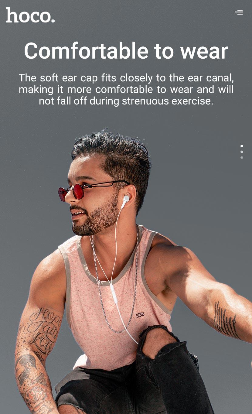 hoco news m78 el placer universal earphones with microphone comfortable en
