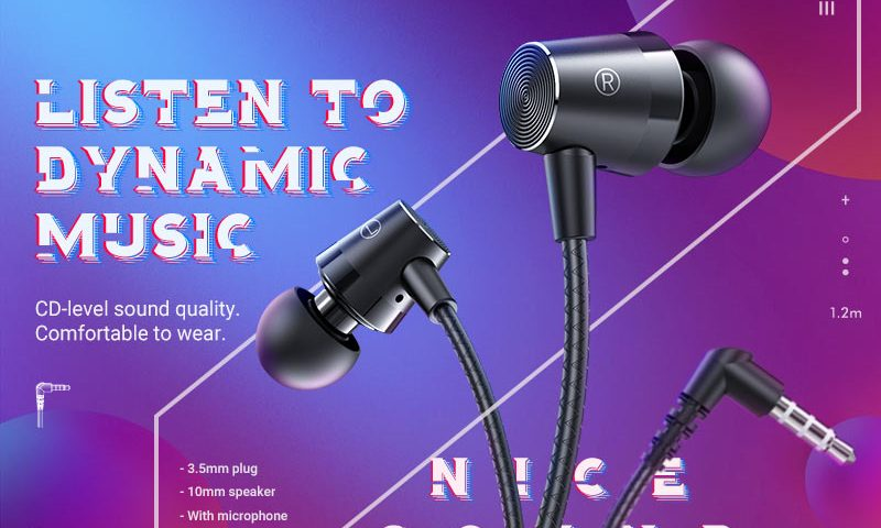 hoco news m79 cresta universal earphones with microphone banner en