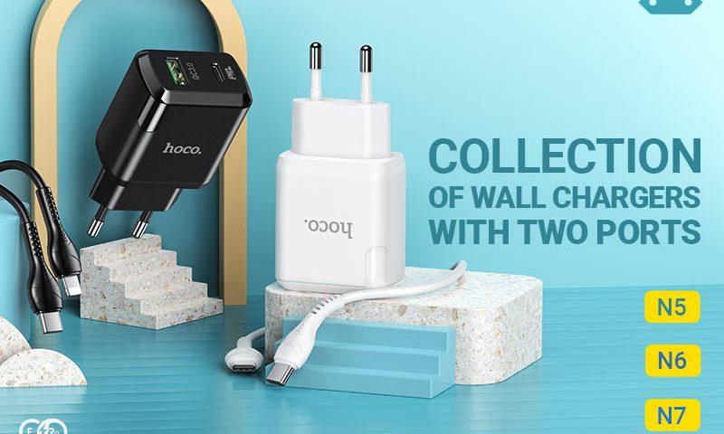 hoco news n5 n6 n7 wall chargers banner en