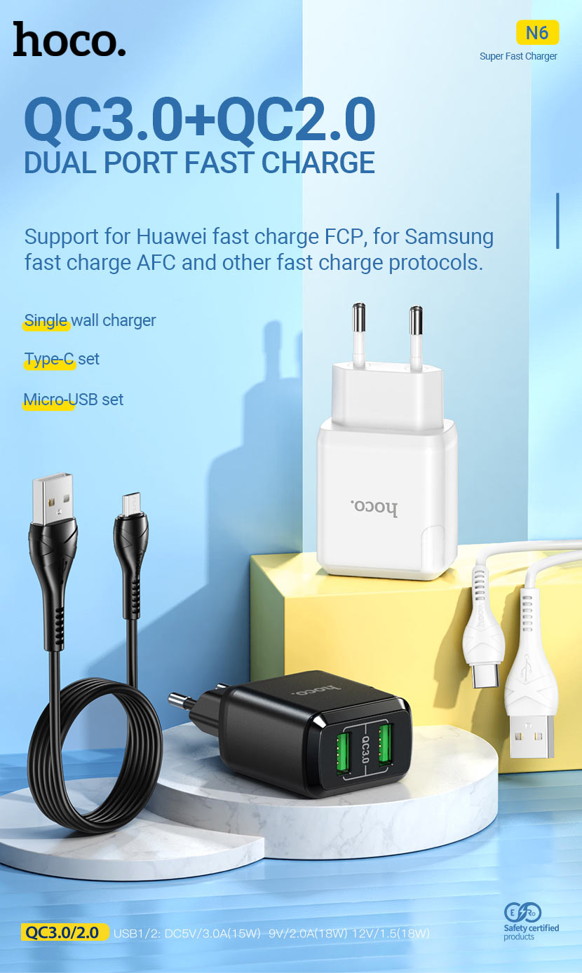 hoco news n6 wall chargers collection en