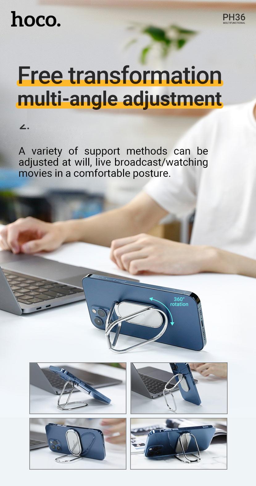 hoco news ph36 emma metal multifunctional folding stand transformation en