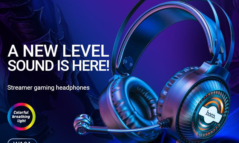 hoco news w101 streamer gaming headphones banner en