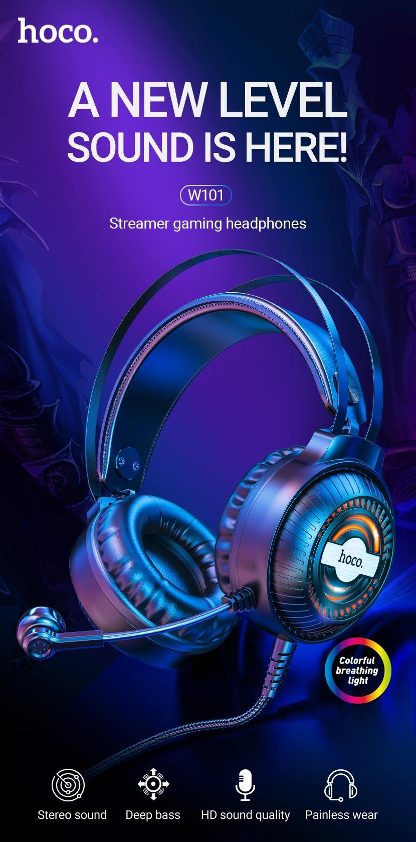 hoco news w101 streamer gaming headphones en