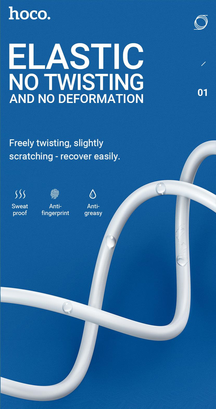 hoco news x49 beloved charging data cable elastic en