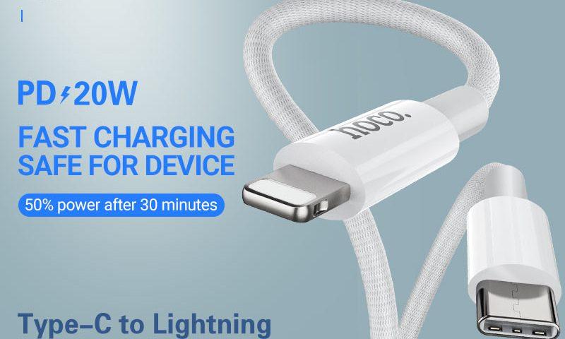 hoco news x56 new original pd charging data cable lightning banner en