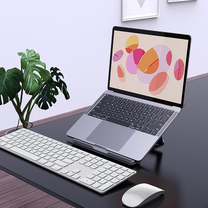 hoco ph37 excellent aluminum alloy folding laptop stand interior