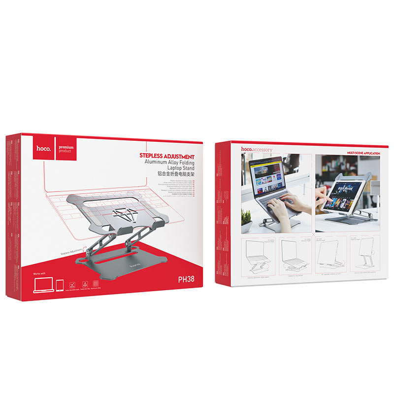 hoco ph38 diamond aluminum alloy folding computer stand package