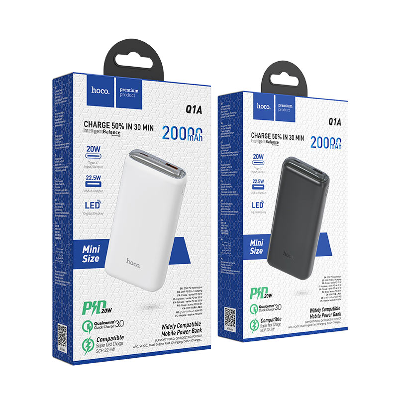 hoco q1a kraft fully compatible power bank 20000mah packages