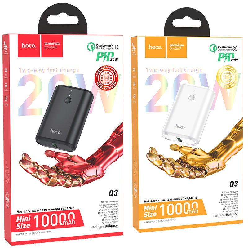 hoco q3 mayflower pd qc3 power bank 10000mah packages