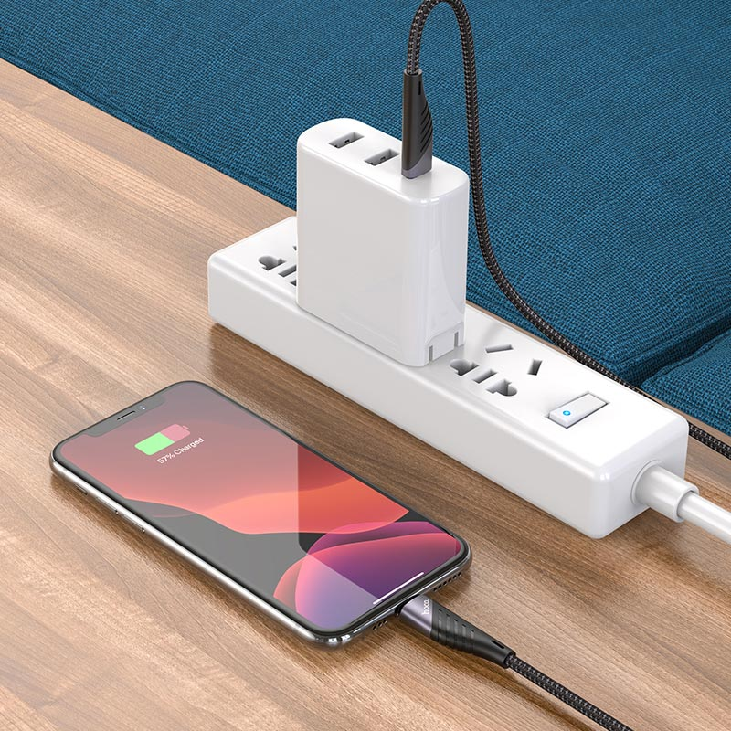 hoco u95 freeway pd charging data cable type c to lightning charge