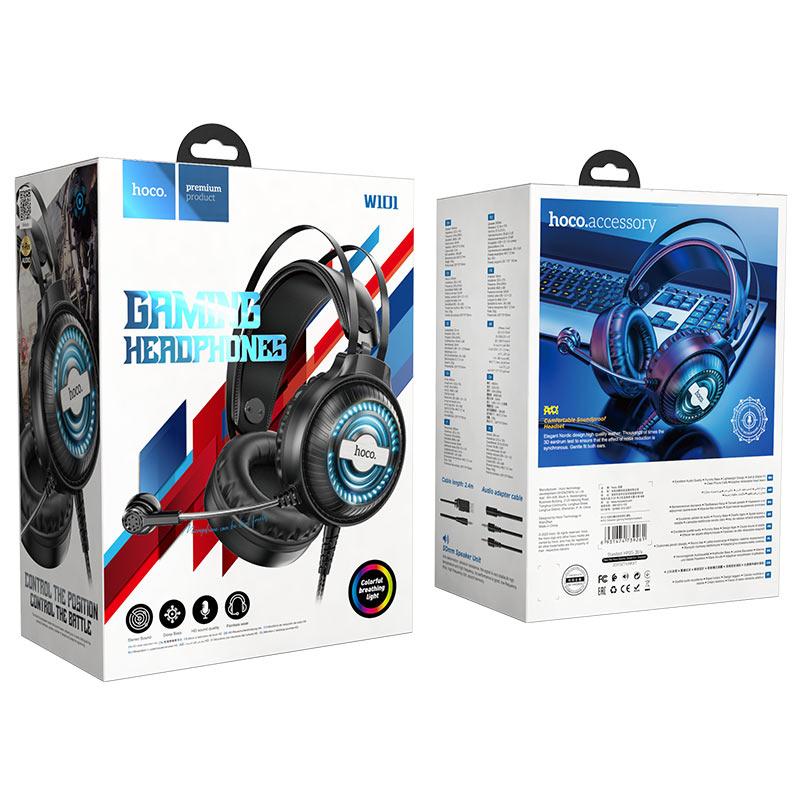 hoco w101 streamer gaming headphones package