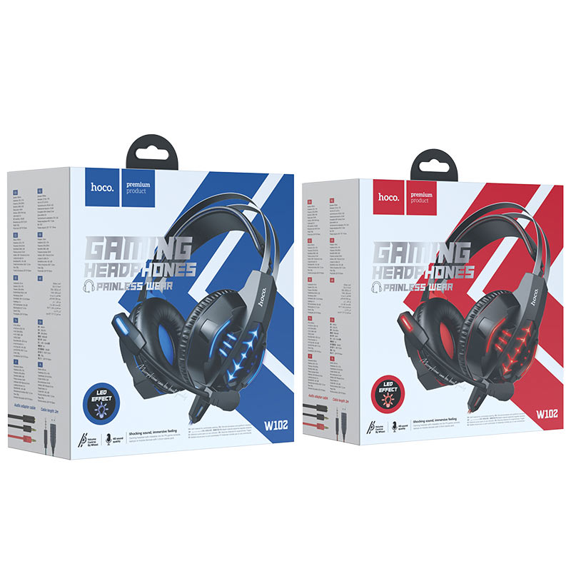 hoco w102 cool tour gaming headphones packages