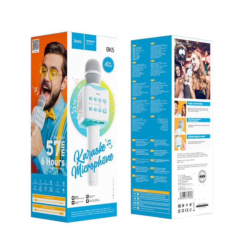 hoco bk5 cantando karaoke microphone package blue