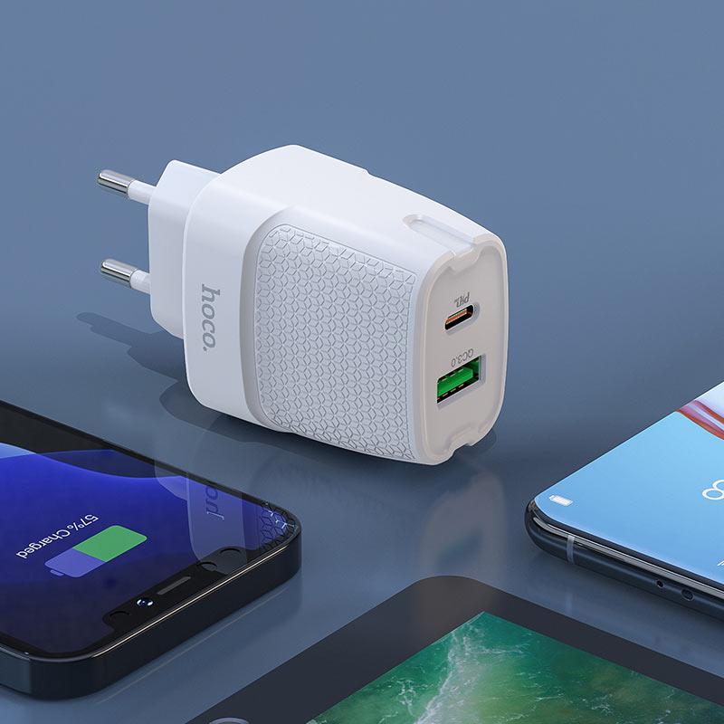 hoco c85a bright зарядное устройство pd20w qc3 eu интерьер