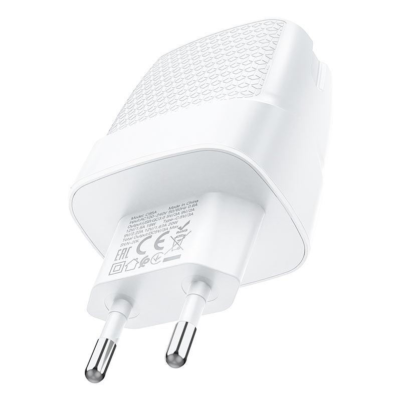 hoco c85a bright dual port pd20w qc3 wall charger eu specs