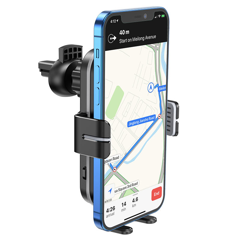 hoco ca80 buddy smart wireless charging car holder navi