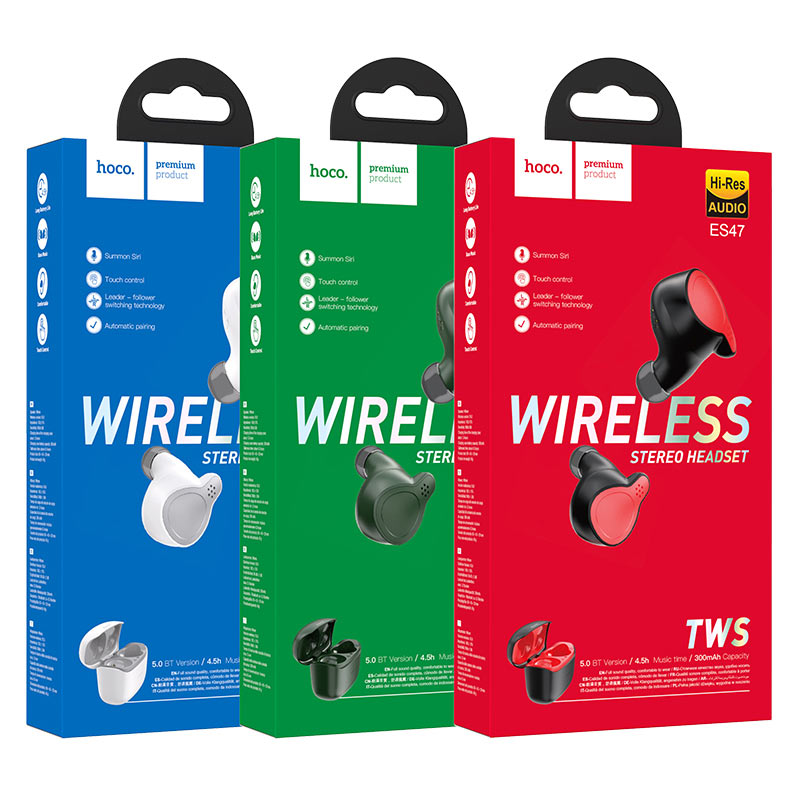hoco es47 shelly tws wireless bt headset packages