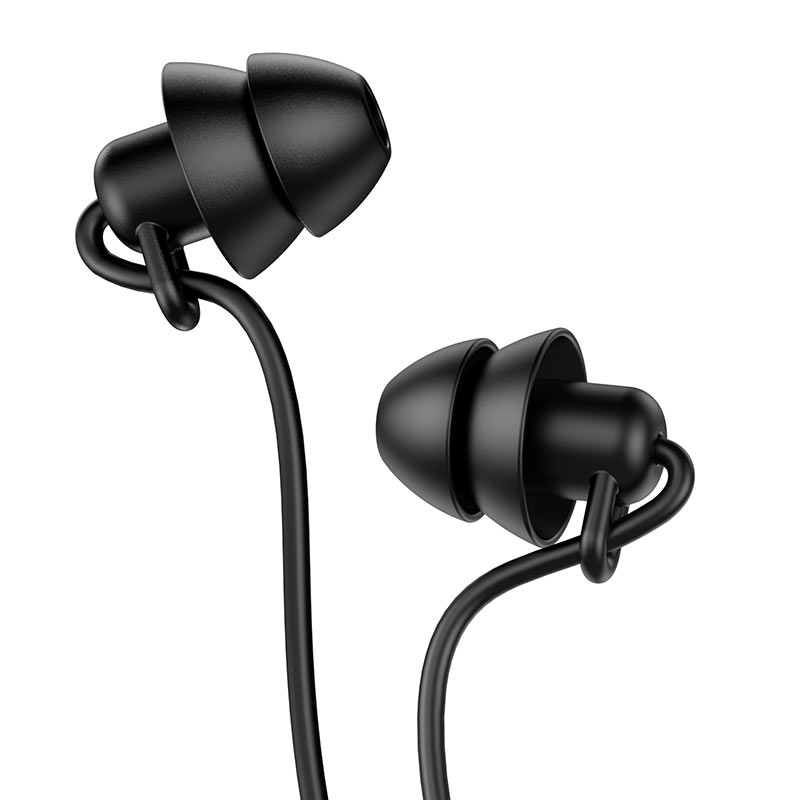 hoco m81 imperceptible universal sleeping earphone with mic ear caps black
