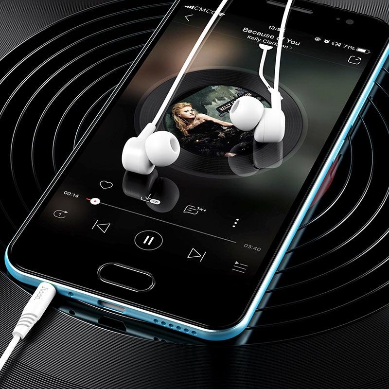 hoco m82 la musique универсальные наушники с микрофоном интерьер белый