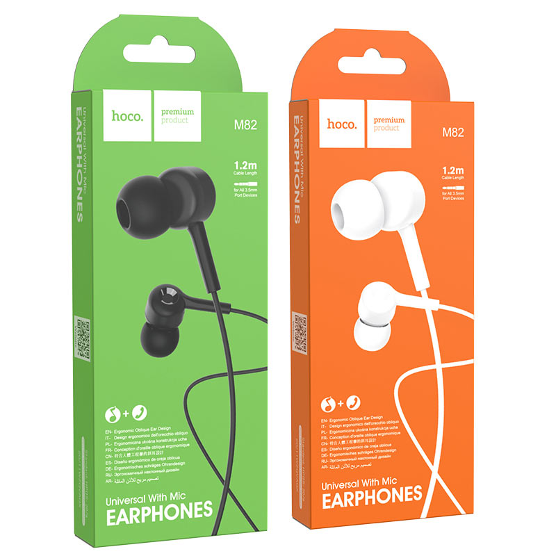hoco m82 la musique universal earphones with mic packages