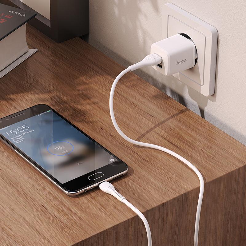 hoco n8 briar dual port wall charger eu for micro sub set interior