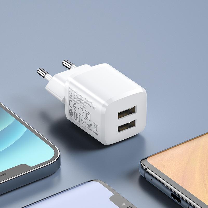 hoco n8 briar dual port wall charger eu portable.jpg