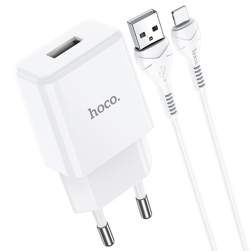 hoco n9 especial single port wall charger eu for lightning set