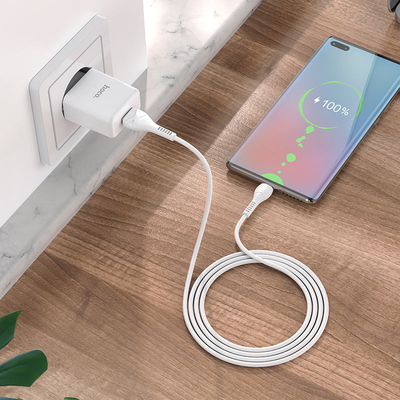 hoco n9 especial single port wall charger eu for micro usb set charging
