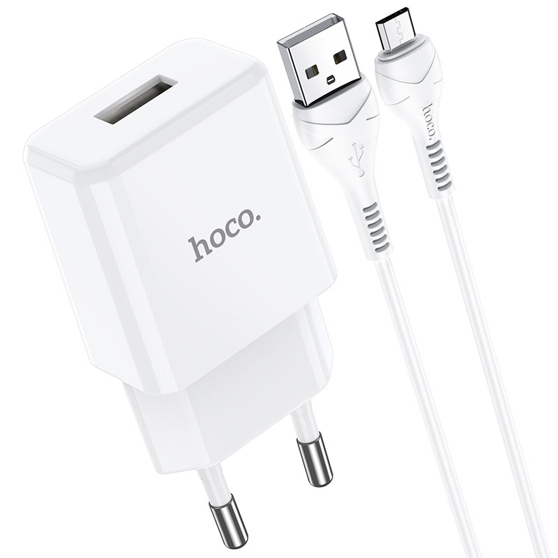 hoco n9 especial single port wall charger eu for micro usb set