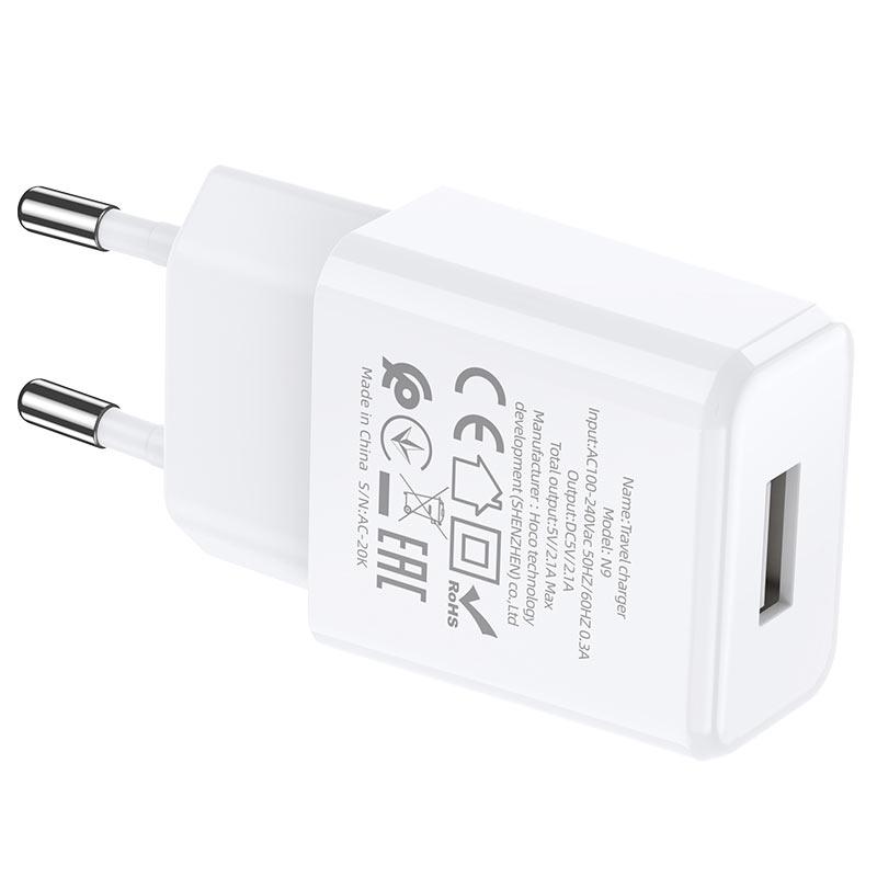 hoco n9 especial single port wall charger eu specs