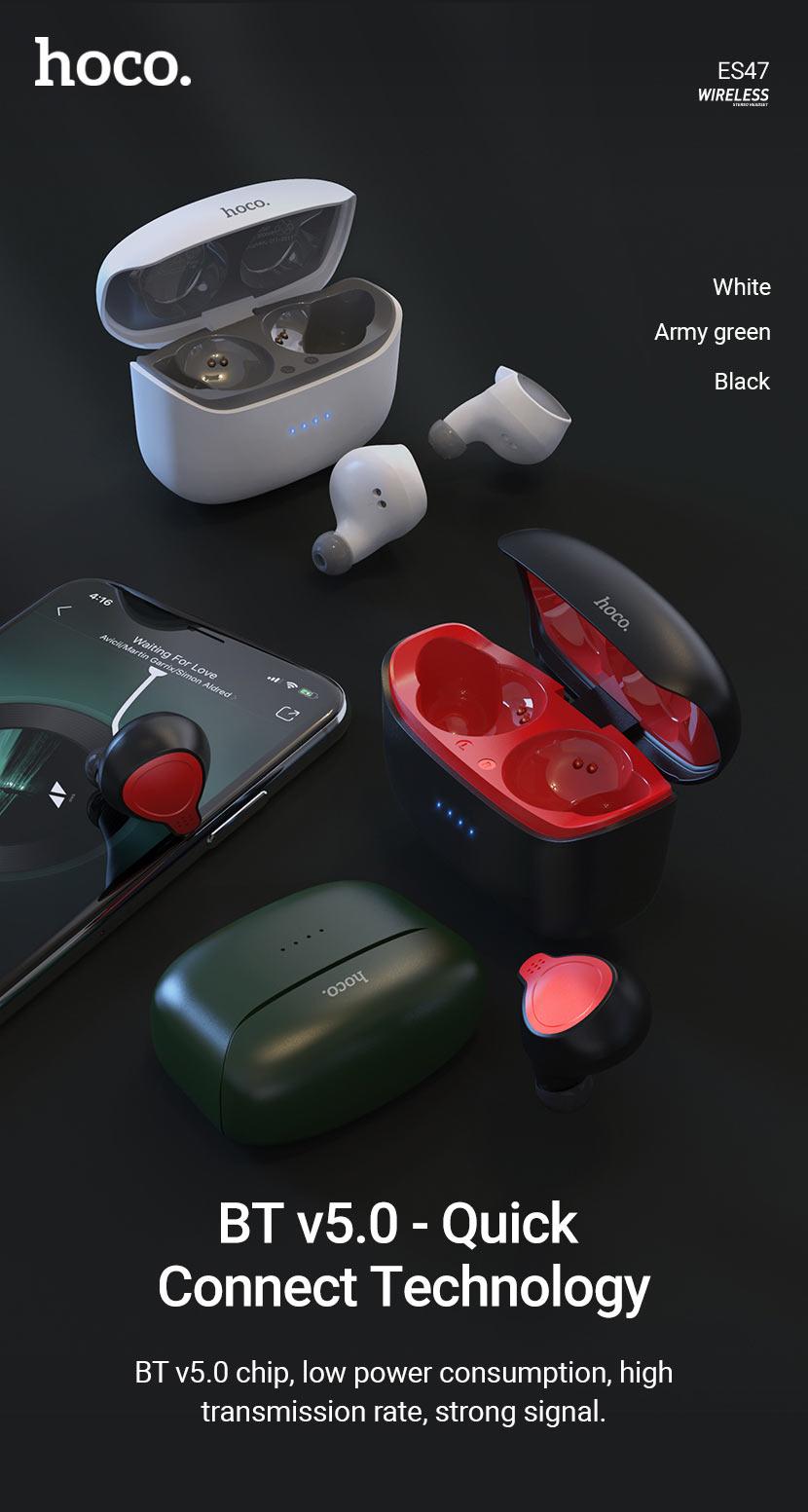 hoco news es47 shelly tws wireless headset bt en