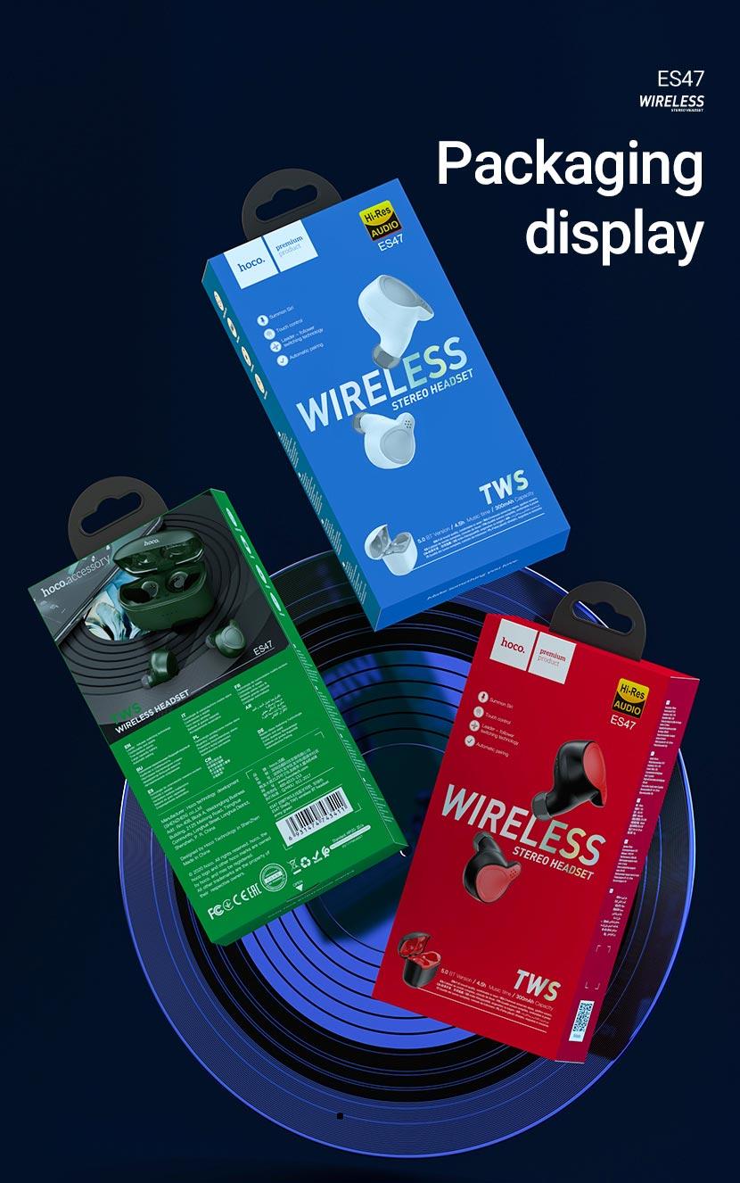 hoco news es47 shelly tws wireless headset package en