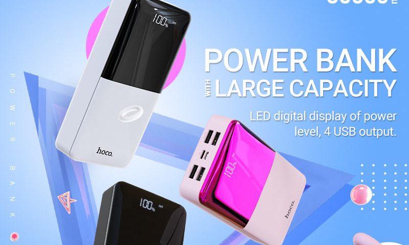 hoco news j42b high power mobile power bank 30000mah banner en