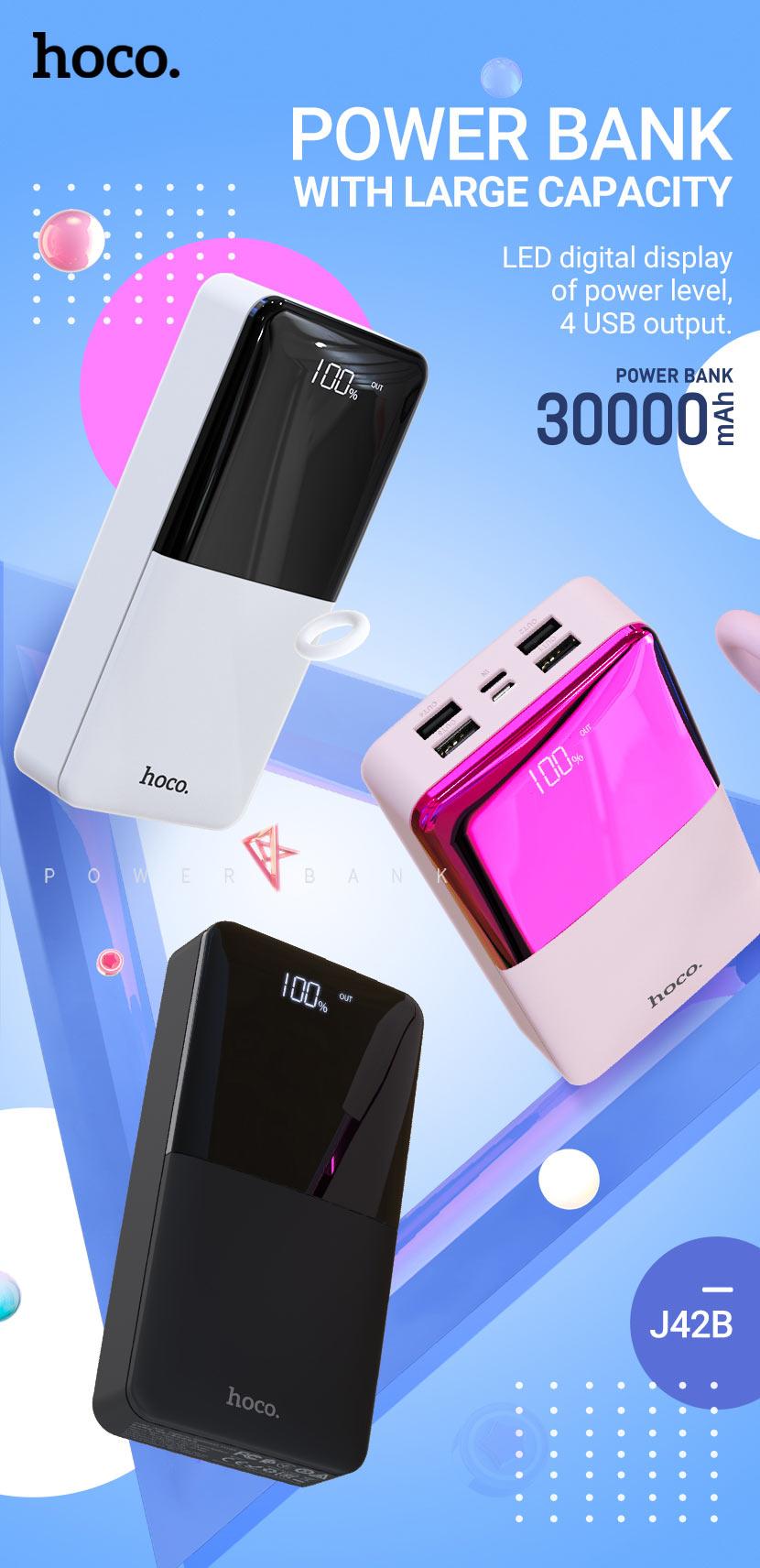 hoco news j42b high power mobile power bank 30000mah en