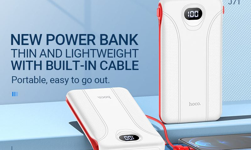 hoco news j71 borealis power bank 10000mah banner en