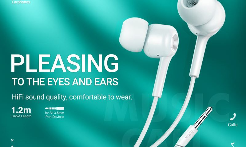 hoco news m82 la musique universal earphones with mic banner en