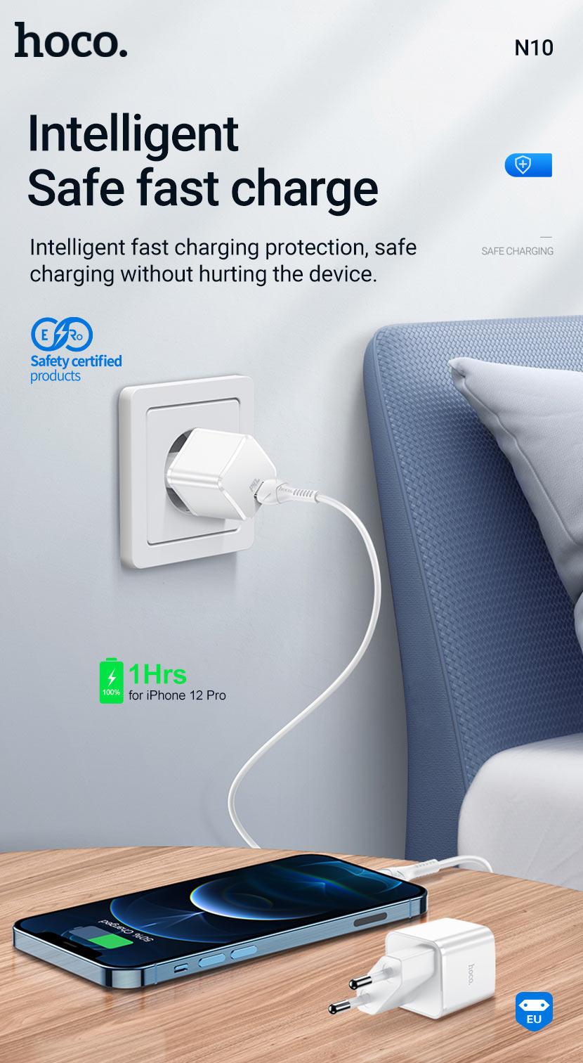 hoco news n10 n13 starter single port pd20w wall charger safe en