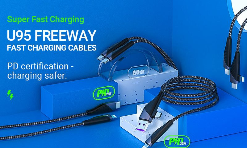 hoco news u95 freeway pd charging data cable banner en