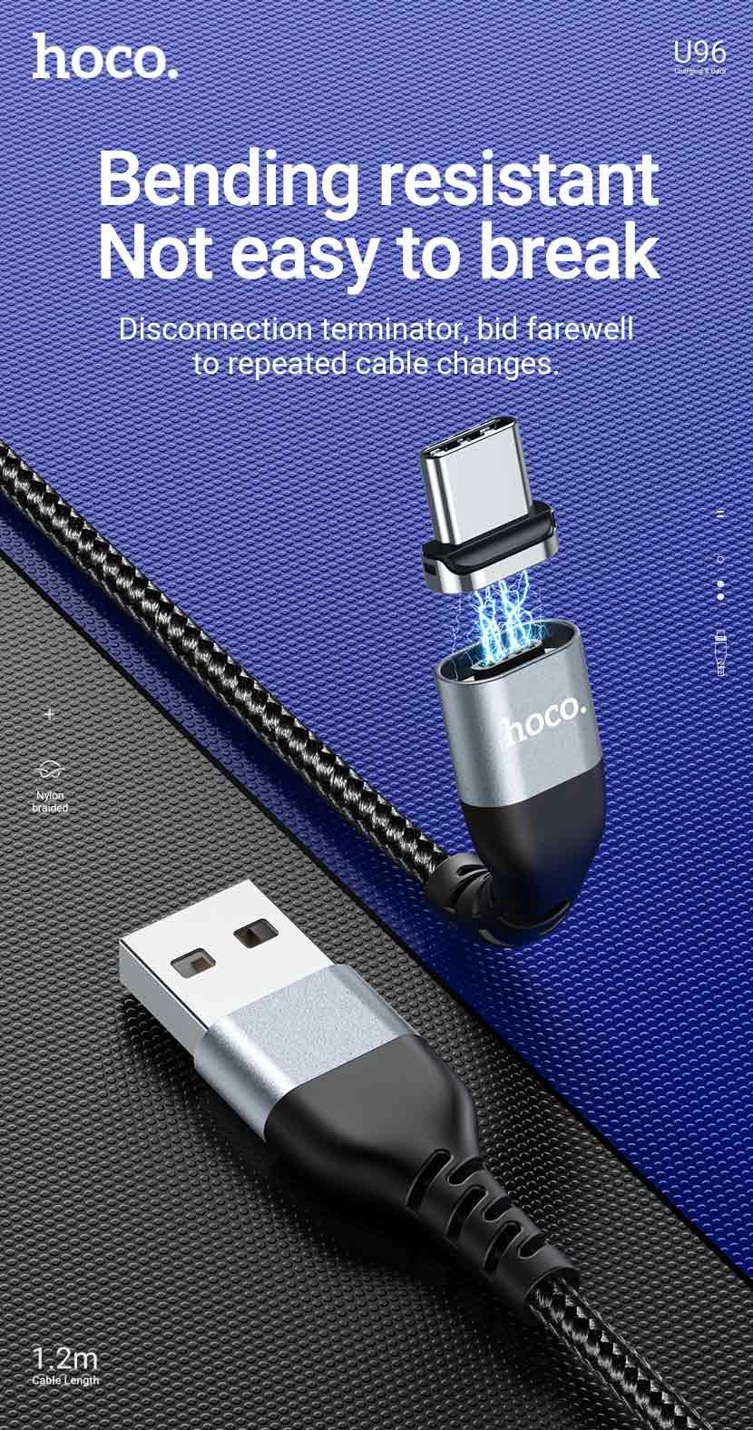 hoco news u96 traveller magnetic charging data cable bending resistant en