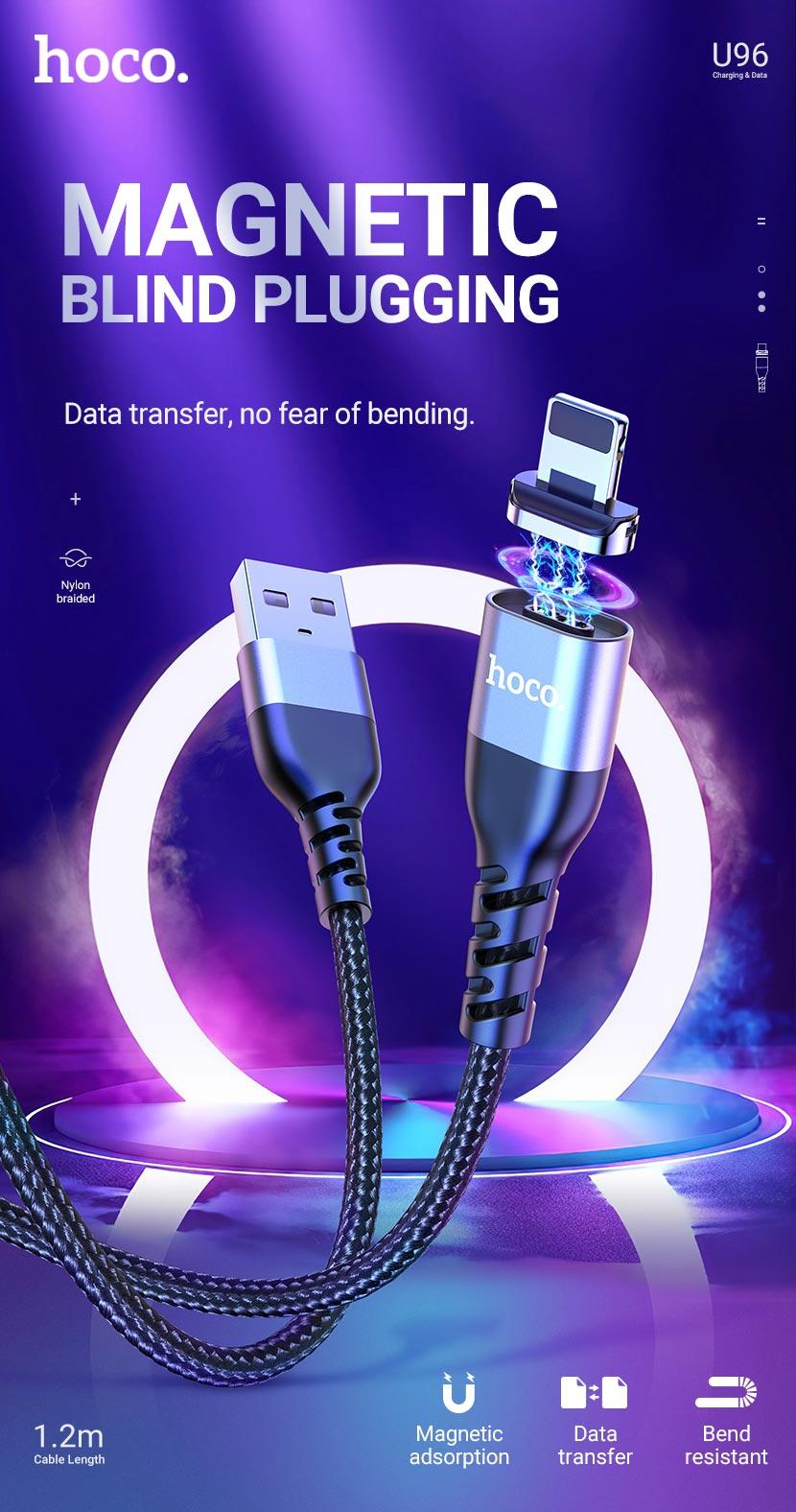 hoco news u96 traveller magnetic charging data cable en