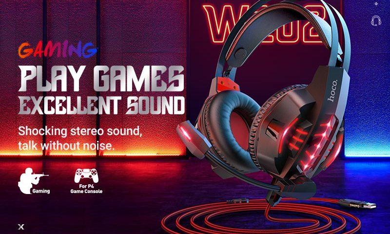 hoco news w102 cool tour gaming headphones banner en