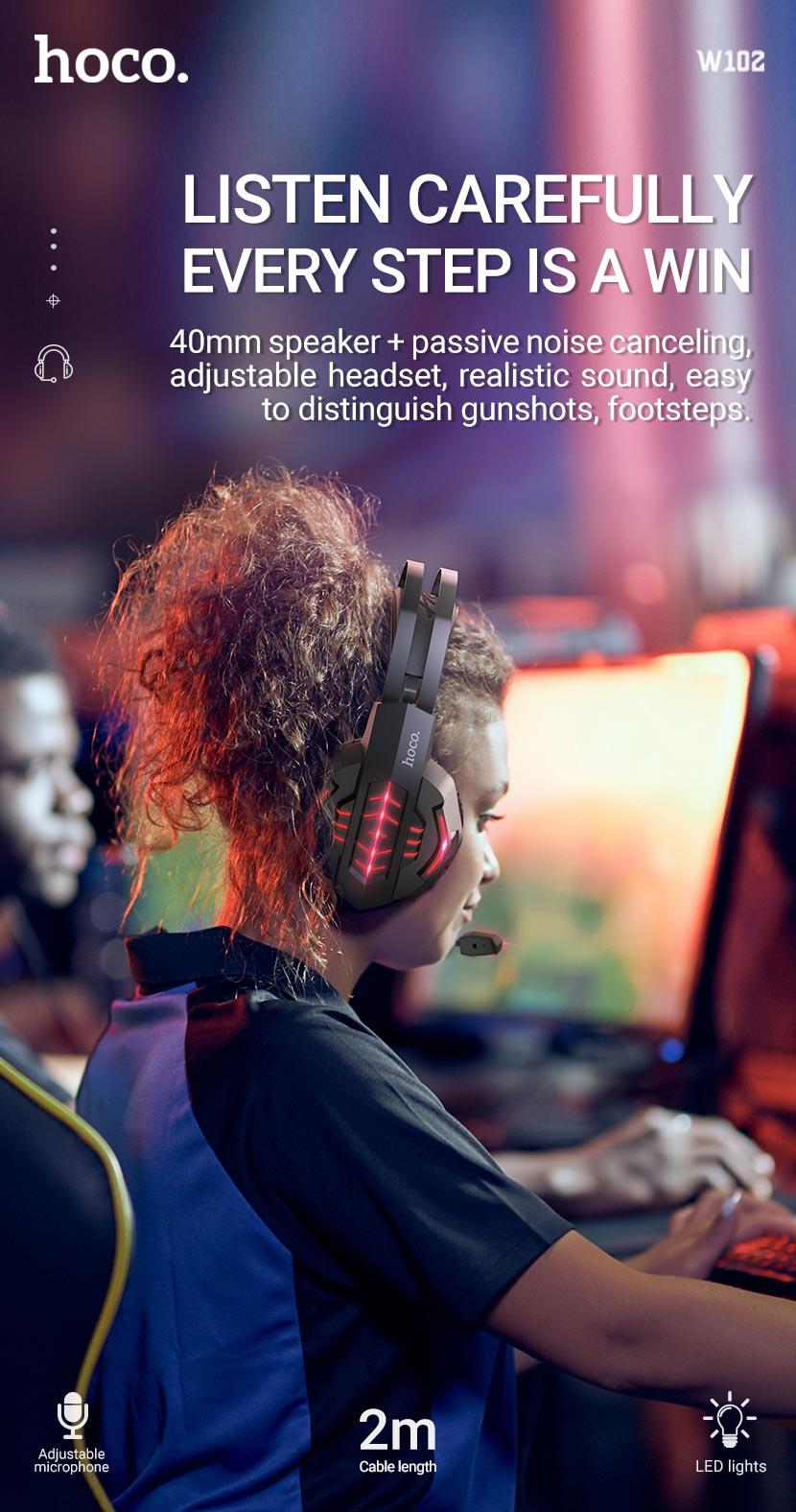 hoco news w102 cool tour gaming headphones win en