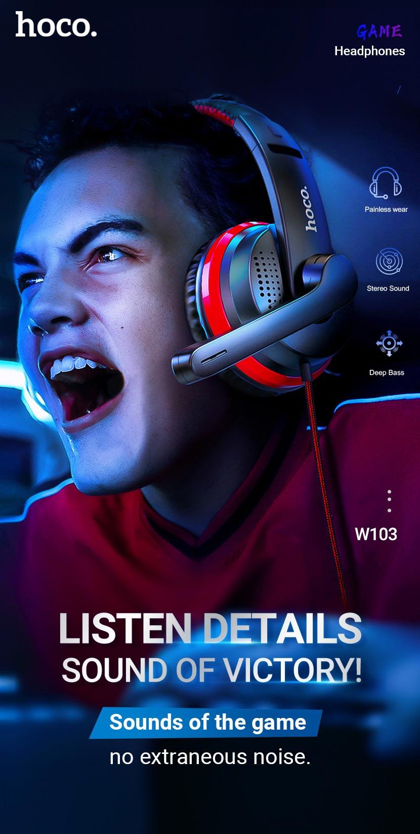 hoco news w103 magic tour gaming headphones en