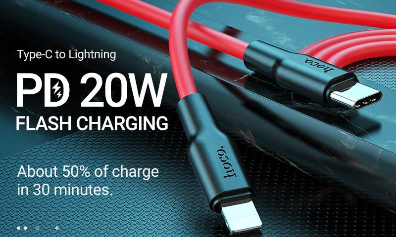 hoco news x21 plus silicone pd charging data cable banner en