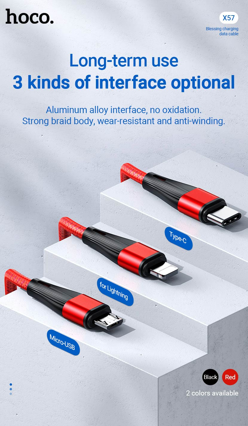 hoco news x57 blessing charging data cable interface en