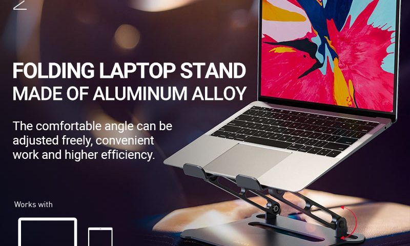 hoco ph38 diamond aluminum alloy folding laptop stand banner en