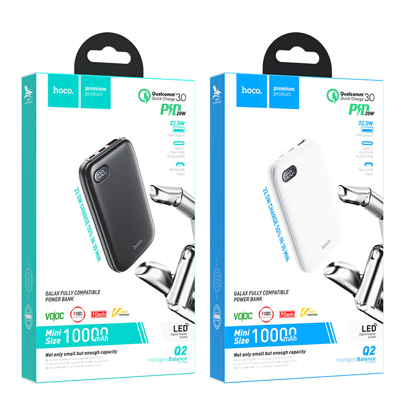 hoco q2 galax fully compatible power bank 10000mah packages