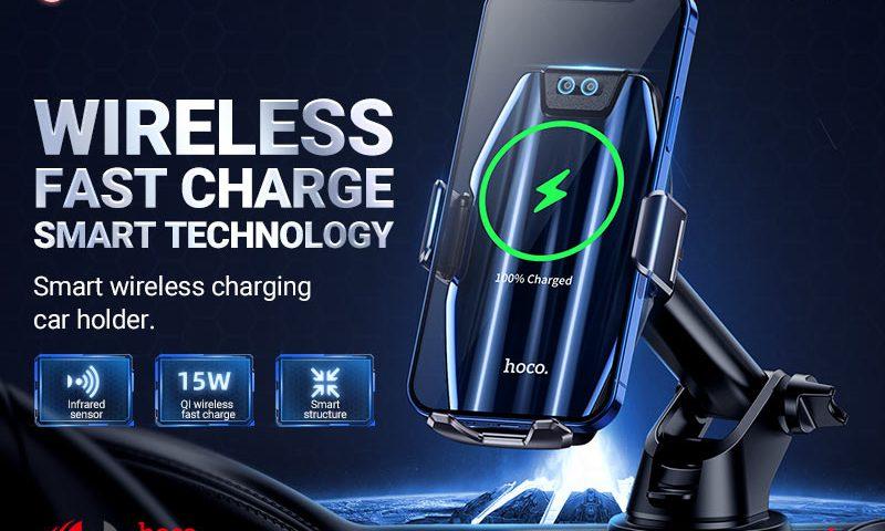hoco selected s45 energia smart wireless charging car holder banner en