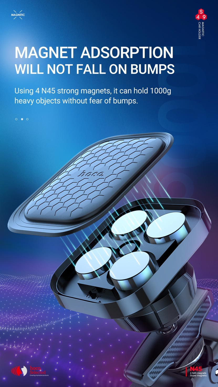 hoco selected s49 fuerte series air outlet magnetic car holder adsorption en